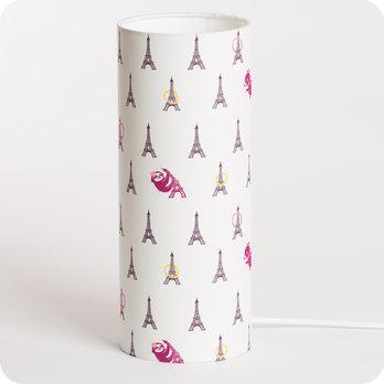lampe de chevet enfant en tissu th me paris fabuleuse eiffel girl. Black Bedroom Furniture Sets. Home Design Ideas