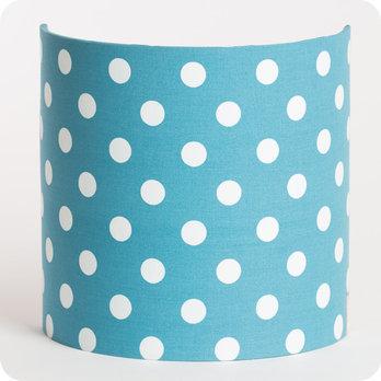 applique murale en tissu motif pois vintage bleu lagoon. Black Bedroom Furniture Sets. Home Design Ideas