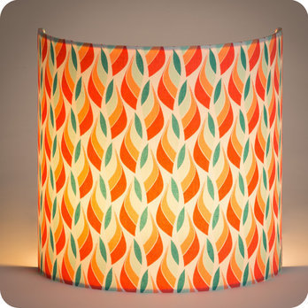 applique murale design en tissu motif scandinave rouge vert tori. Black Bedroom Furniture Sets. Home Design Ideas