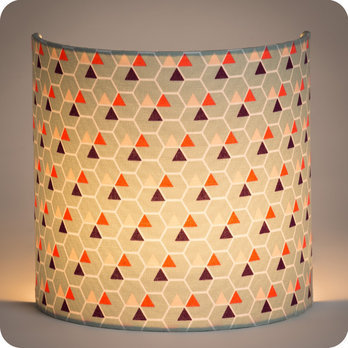 Applique murale design en tissu motif scandinave hexagone - Applique murale design scandinave ...