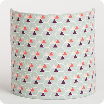 applique murale design en tissu motif scandinave hexagone. Black Bedroom Furniture Sets. Home Design Ideas