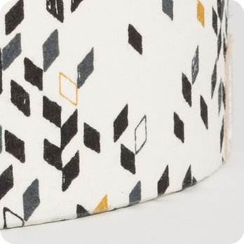 Applique murale design en tissu motif graphique twist - Applique murale tissu blanc ...