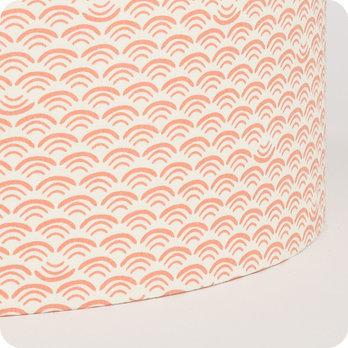 Abat jour design pour lampe lampadaire ou suspension en tissu motif japonais pastel shawa rose - Tissu pour abat jour ...