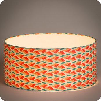 Abat jour design pour lampe lampadaire ou suspension en tissu motif scandinave rouge vert tori - Tissu pour abat jour ...