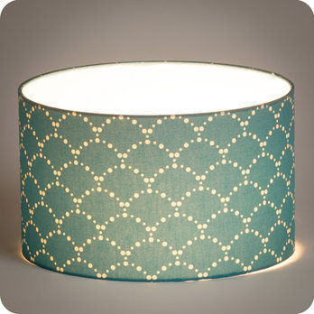 abat jour design pour lampe lampadaire ou suspension en tissu motif japonais bleu canard. Black Bedroom Furniture Sets. Home Design Ideas