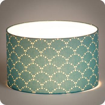 luminaires abat jour suspension abat jour suspension cylindrique tissu asahi bleu. Black Bedroom Furniture Sets. Home Design Ideas