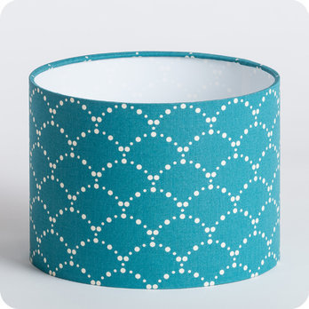 Abat jour design pour lampe lampadaire ou suspension en tissu motif japonais bleu canard - Tissu pour abat jour ...