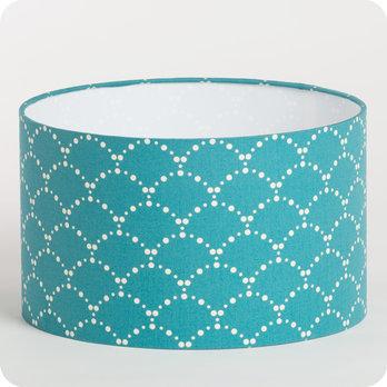 abat jour design pour lampe lampadaire ou suspension en tissu motif japonais bleu canard. Black Bedroom Furniture Sets. Home Design Ideas