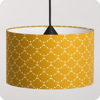 abat jour design pour lampe lampadaire ou suspension en tissu motif japonais asahi moutarde. Black Bedroom Furniture Sets. Home Design Ideas