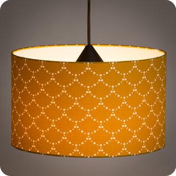 luminaires abat jour suspension abat jour suspension cylindrique tissu asahi moutarde. Black Bedroom Furniture Sets. Home Design Ideas