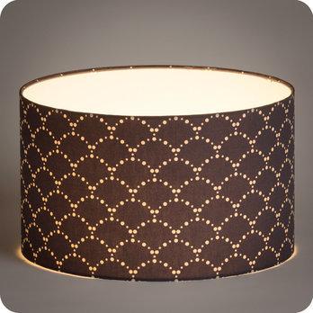 abat jour design pour lampe lampadaire ou suspension en tissu motif japonais asahi gris. Black Bedroom Furniture Sets. Home Design Ideas