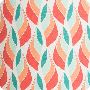 lampe poser design en tissu motif scandinave rouge vert. Black Bedroom Furniture Sets. Home Design Ideas