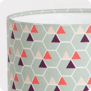 lampe de chevet enfant en tissu motif scandinave hexagone. Black Bedroom Furniture Sets. Home Design Ideas