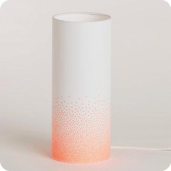 lampe tube poser en tissu maisongeorgette poudre n on. Black Bedroom Furniture Sets. Home Design Ideas