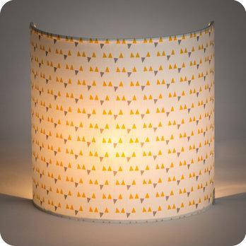 applique murale en tissu motif scandinave jaune. Black Bedroom Furniture Sets. Home Design Ideas