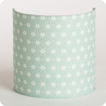 applique murale design en tissu motif japonais vert pastel. Black Bedroom Furniture Sets. Home Design Ideas