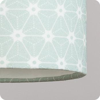 Abat jour imprim en tissu pour lampe lampadaire ou suspension motif japonais vert ozora verdo - Tissu pour abat jour ...