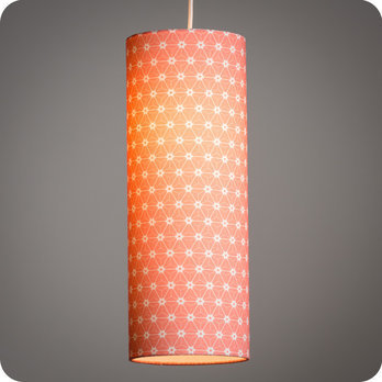 Abat jour imprim en tissu pour lampe lampadaire ou for Suspension tissu