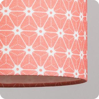 Abat jour imprim en tissu pour lampe lampadaire ou suspension motif japonais rose ozora pink - Tissu pour abat jour ...