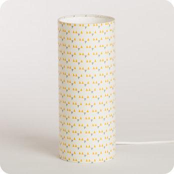 Lampe De Chevet Enfant En Tissu Motif Scandinave Jaune Mistinguett
