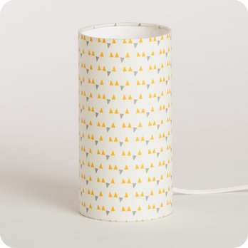 lampe de chevet enfant en tissu motif scandinave jaune. Black Bedroom Furniture Sets. Home Design Ideas