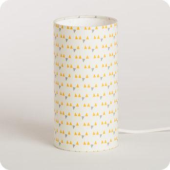 lampe de chevet enfant en tissu motif scandinave jaune mistinguett yellow. Black Bedroom Furniture Sets. Home Design Ideas