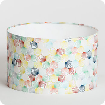 abat jour design pour lampe lampadaire ou suspension en tissu motif hexagone scandinave. Black Bedroom Furniture Sets. Home Design Ideas
