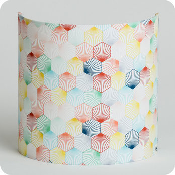applique murale design en tissu motif scandinave hexagone kaleidoscope. Black Bedroom Furniture Sets. Home Design Ideas