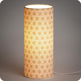 lampe poser design en tissu motif japonais hoshi or. Black Bedroom Furniture Sets. Home Design Ideas