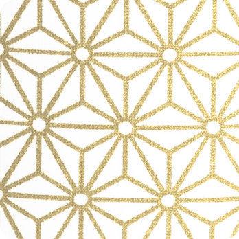 abat jour design pour lampe lampadaire ou suspension en tissu motif japonais hoshi or. Black Bedroom Furniture Sets. Home Design Ideas