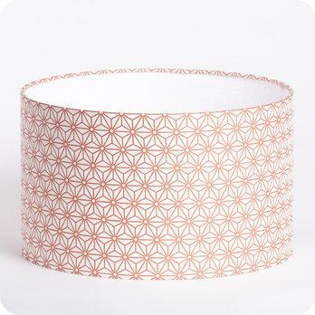 luminaires abat jour suspension abat jour suspension cylindrique tissu hoshi cuivre. Black Bedroom Furniture Sets. Home Design Ideas