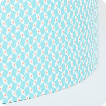 abat jour design pour lampe lampadaire ou suspension en tissu petit pan bleu turquoise p pin azur. Black Bedroom Furniture Sets. Home Design Ideas