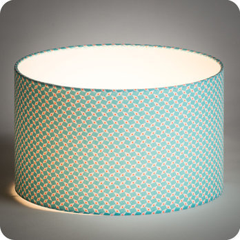 abat jour design pour lampe lampadaire ou suspension en tissu petit pan bleu turquoise p pin azur. Black Bedroom Furniture Sets. Home Design Ideas