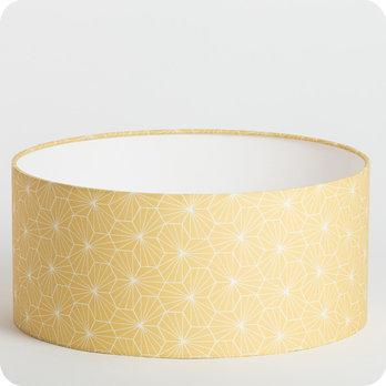 abat jour design pour lampe lampadaire ou suspension en tissu motif g om trique jaune p pite miel. Black Bedroom Furniture Sets. Home Design Ideas