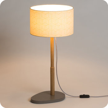 Lampe Sur Pied Design En Ch Ne Naturel Et Medium