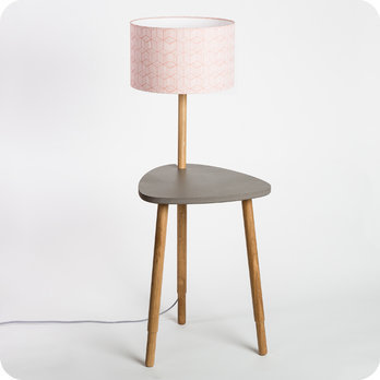 Lampe table de chevet ou d 39 appoint en ch ne naturel et - Lampe de table de nuit ...