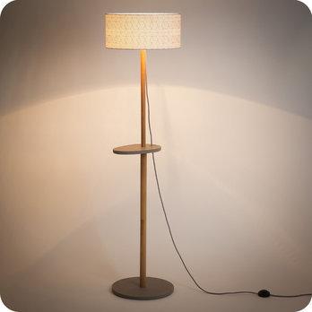 lampadaire design en ch ne naturel et medium scandinave. Black Bedroom Furniture Sets. Home Design Ideas