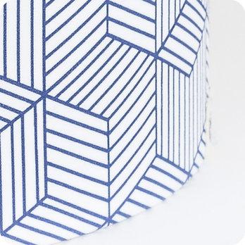 applique murale design en tissu motif g om trique cinetic indigo. Black Bedroom Furniture Sets. Home Design Ideas
