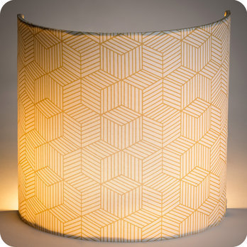 applique murale design en tissu motif g om trique cinetic miel. Black Bedroom Furniture Sets. Home Design Ideas