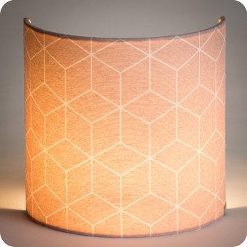 applique murale design en tissu motif g om trique cubic rose. Black Bedroom Furniture Sets. Home Design Ideas