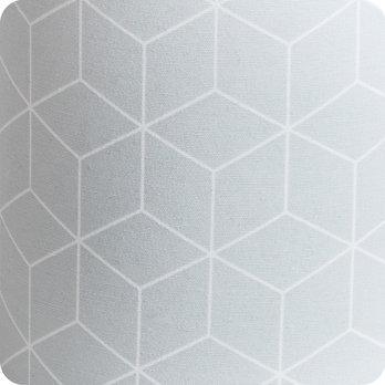 applique murale design en tissu motif g om trique cubic gris. Black Bedroom Furniture Sets. Home Design Ideas
