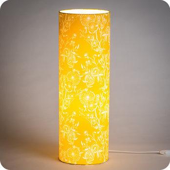 À Tissu Motif Poser En Jaune Lampe Tube Simone Vintage 54jARSc3Lq