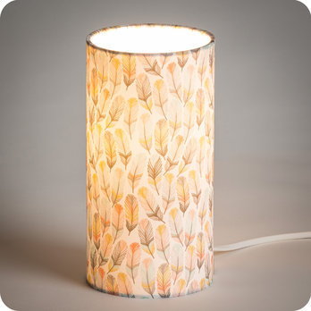 lampe poser design en tissu motif plume pastel envol. Black Bedroom Furniture Sets. Home Design Ideas