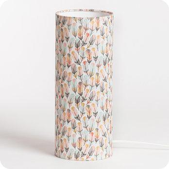 Poser Pastel Lampe En Design Envol Motif Plume À Tissu Nmwn0v8