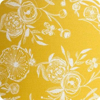 abat jour design pour lampe lampadaire ou suspension en tissu motif vintage jaune blue simone. Black Bedroom Furniture Sets. Home Design Ideas