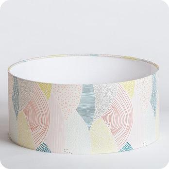 abat jour design pour lampe lampadaire ou suspension en tissu motif graphique pastel escapade. Black Bedroom Furniture Sets. Home Design Ideas