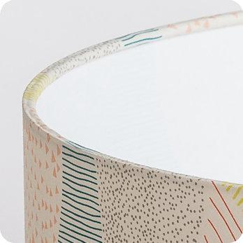 Abat jour design pour lampe lampadaire ou suspension en tissu motif graphique pastel escapade - Tissu pour abat jour ...