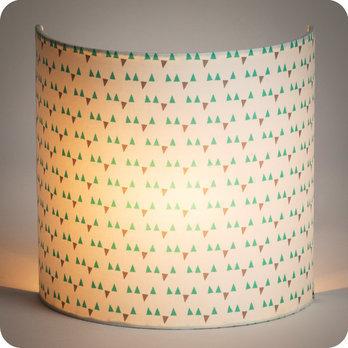 applique murale en tissu motif scandinave turquoise. Black Bedroom Furniture Sets. Home Design Ideas