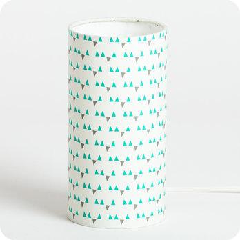 Lampe De Chevet Enfant En Tissu Motif Scandinave Turquoise Mistinguett