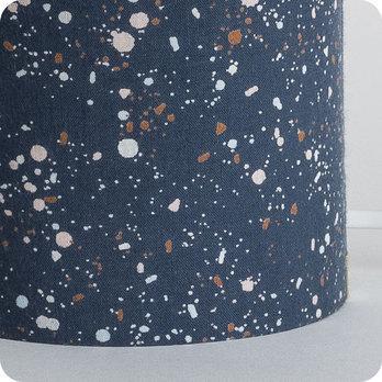 lampe tube poser en tissu motif terrazzo bleu nuit terrazzo night. Black Bedroom Furniture Sets. Home Design Ideas